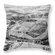 Aerial Of Indy 500 Throw Pillow