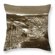Aerial  Of Monterey Calif. Oct. 25 1934 Throw Pillow