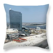 Aerial Of Revel On The Oceanfront Throw Pillow