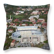 Aerial Of Tiger Stadium Throw Pillow