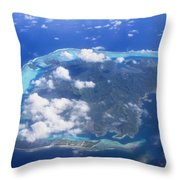 Aerial Over Atoll Throw Pillow