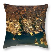 Aerial Photography - Coast Throw Pillow