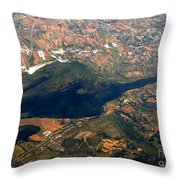 Aerial Photography - Hill Like A Big Mouse  Throw Pillow