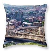 Aerial Shot Of Boston Throw Pillow