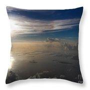 Aerial Sunrise Over Florida Keys Throw Pillow