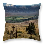 Aerial Tramway Towers Throw Pillow