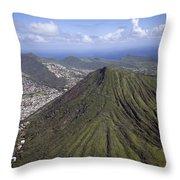 Aerial View Honolulu Hawaii Throw Pillow