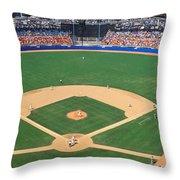 Aerial View Of A Stadium, Dodger Throw Pillow
