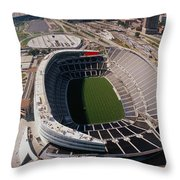 Aerial View Of A Stadium, Soldier Throw Pillow