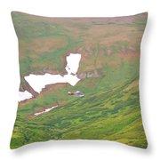 Aerial View Of Alaskan Landscape Throw Pillow