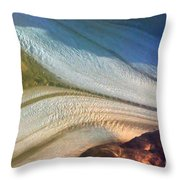 Aerial  View Of An Antarctica Glacier Flow Throw Pillow