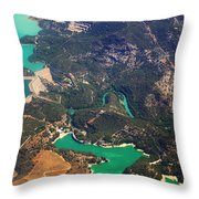 Aerial View Of Andalusia. Spain Throw Pillow