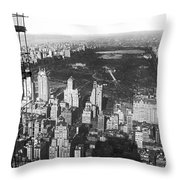 Aerial View Of Central Park Throw Pillow