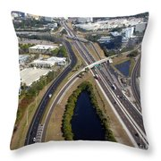 Aerial View Of City Of Tampa Throw Pillow