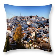 Aerial View Of Comares Village, One Throw Pillow