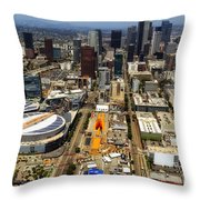 Aerial View Of Los Angeles Throw Pillow