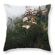 Aerial View Of Monserrate Church Throw Pillow