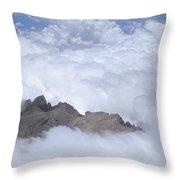 Aerial View Of Mt Kinabalu Borneo Throw Pillow