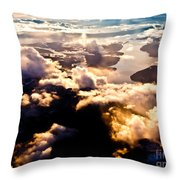 Aerial View Of Pacific Coast Of Bc Canada Throw Pillow