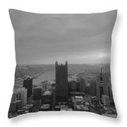 Aerial View Of Pittsburgh Throw Pillow