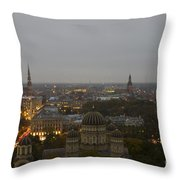 Aerial View Of Riga Throw Pillow