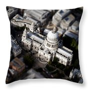 Aerial View Of St Pauls Cathedral Throw Pillow