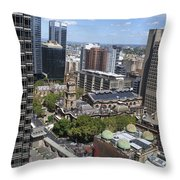Aerial View Of Sydney City Hall Throw Pillow