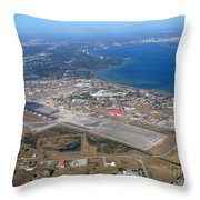 Aerial View Of Tampa And St. Petersburg Throw Pillow