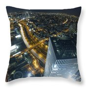 Aerial View Of Tel Aviv Throw Pillow