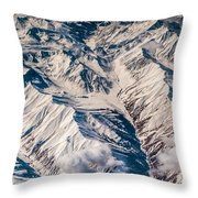 Aerial View Of The Mountains Throw Pillow