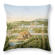Aerial View Of The Villa Of King Throw Pillow