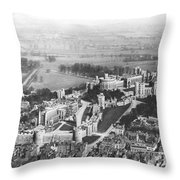 Aerial View Of Windsor Castle. Throw Pillow