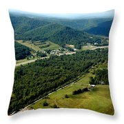 Aerial View Us Route 19  Throw Pillow