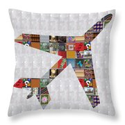 Aeroplane Jet Fly Showcasing Navinjoshi Gallery Art Icons Buy Faa Products Or Download For Self Prin Throw Pillow by Navin Joshi