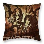 Aerosmith - Back In The Saddle Throw Pillow