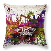 Aerosmith In Color Throw Pillow by Aged Pixel