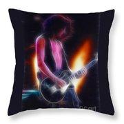 Aerosmith-joe-94-gb26a-fractal Throw Pillow