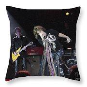 Aerosmith-steven Tyler-00160 Throw Pillow
