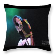 Aerosmith - Steven Tyler -dsc00139-1 Throw Pillow