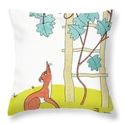 Aesop: Fox And Grapes Throw Pillow