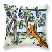 Aesop The Fox & The Grapes Throw Pillow