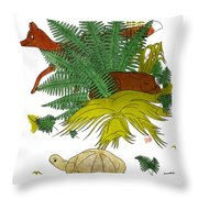 Aesop: Tortoise & The Hare Throw Pillow