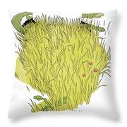 Aesop: Wolf & Sheep Throw Pillow