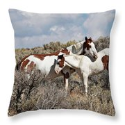 Affection In The Wild Throw Pillow