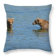 Affectionate Stare Throw Pillow