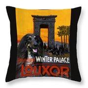 Afghan Hound Art - Luxor Poster Throw Pillow