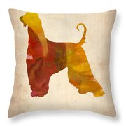 Afghan Hound Poster Throw Pillow