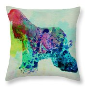 Afghan Hound Watercolor Throw Pillow