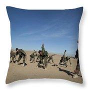 Afghan National Army Commandos Throw Pillow