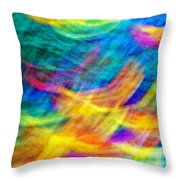 Afghan Waves Throw Pillow